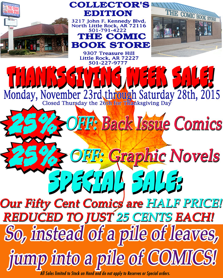 2015 Thanksgiving Sale