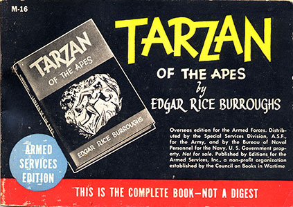 Tarzan of the Apes Armed Services Edition